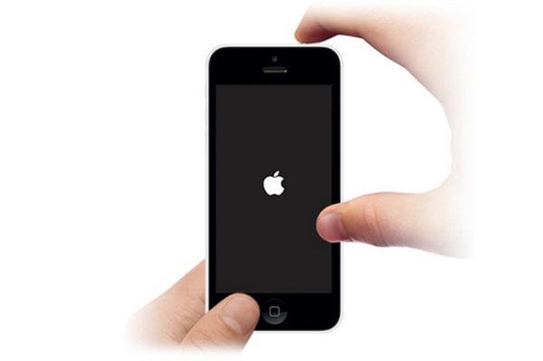 le logo Apple apparaît