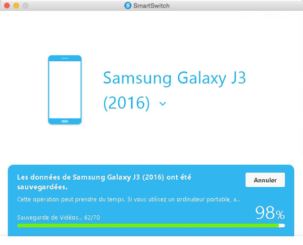 Sauvegarder Samsung avec Smart Switch