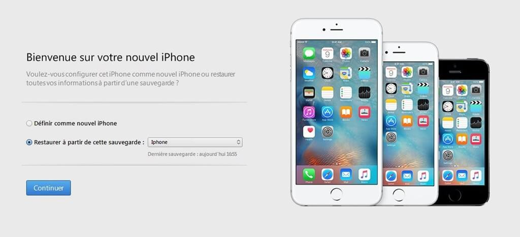 restaurer iphone avec itunes