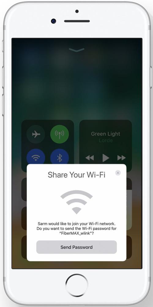 iOS 11 partage de Wi-Fi