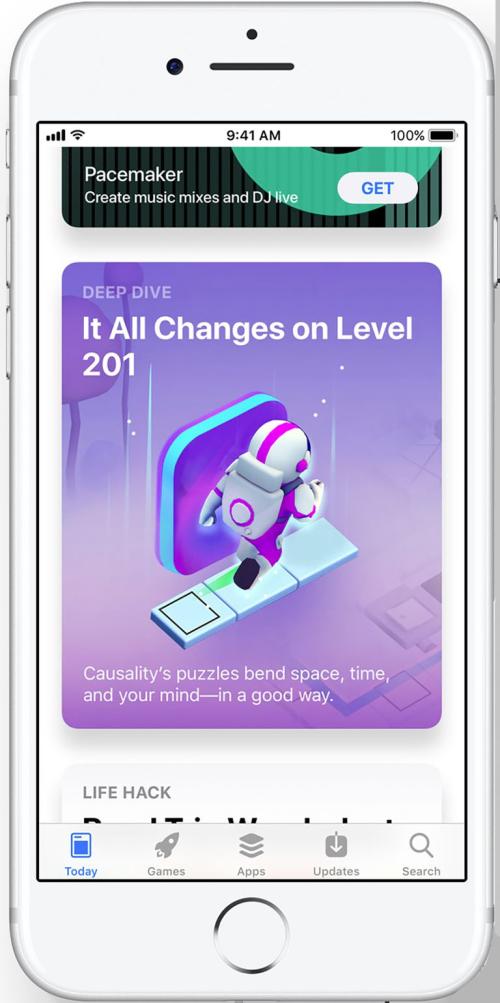 iOS 11 nouveaux Apple Store