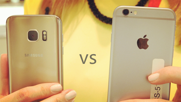 iphone 6s vs galaxy S7 appareil photo