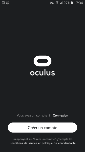 Creation de compte Oculus