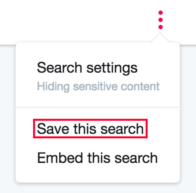 Twitter Save this search