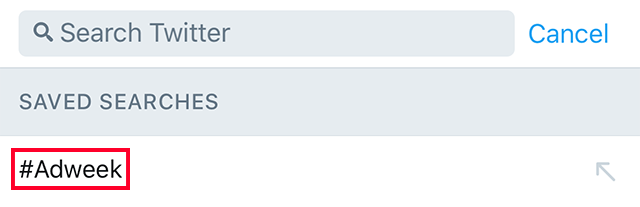 Twitter Saved Searches