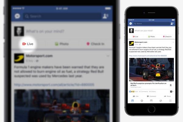 acces facebook live