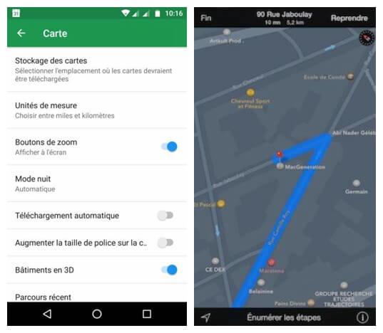 Activer le mode nuit de Google Maps sur Android
