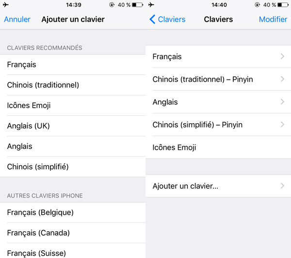 activer un clavier emoji iphone