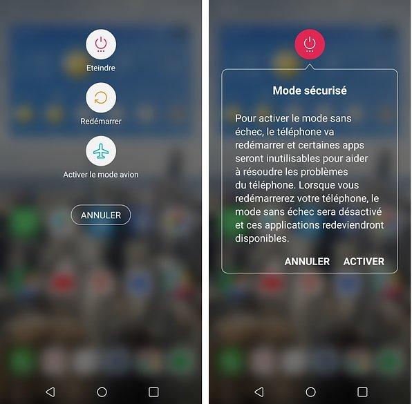 activer Mode sécurisé ou mode sans échec sur Android