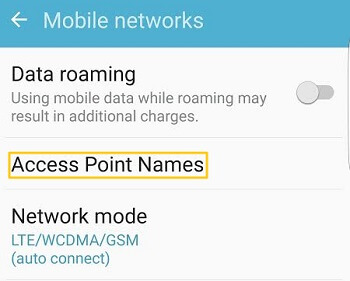 apn settings on android