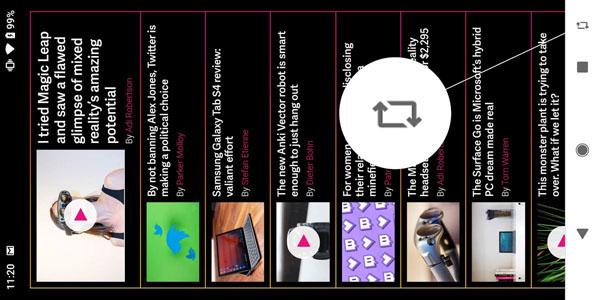 Le bouton de rotation Android 9 Pie