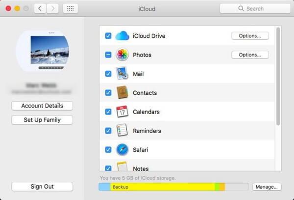 Choisissez iCloud Drive