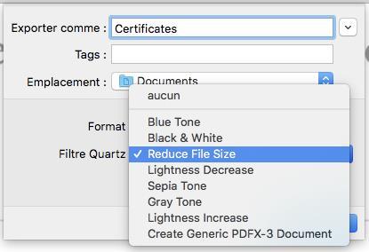 Compresser un PDF dans Aperçu