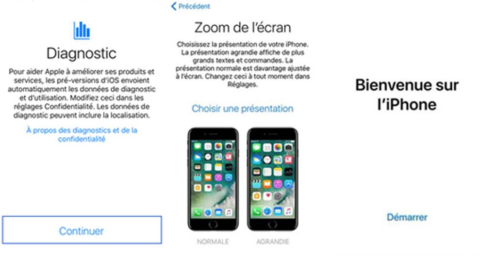 Configurer iPhone XS, iPhone XS Max, iPhone XR