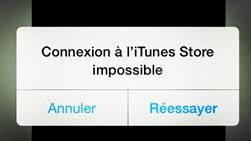 connexion impossible itunes store