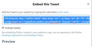 copier twitter code