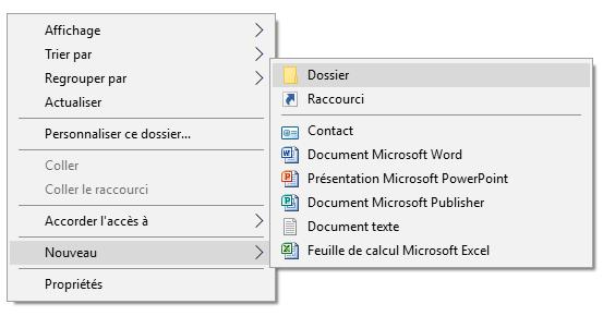 Créer un nouveau fichier sur le bureau