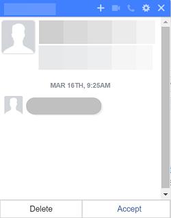 accepter les messages filtres