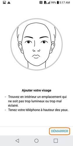 utiliser la reconnaissance faciale sur LG
