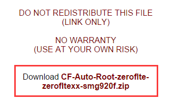 Download CF Auto Root Files