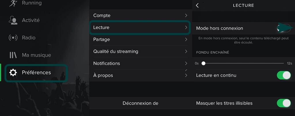 Utiliser Spotify en mode hors connexion sur Android