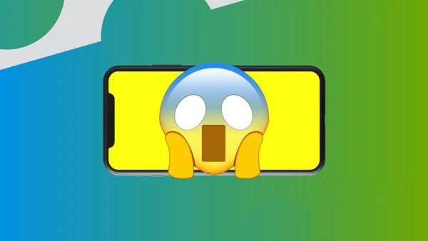 L'écran iPhone X est jaune