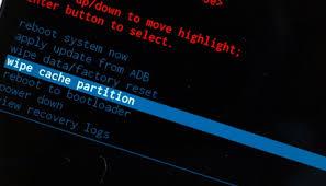 effacer cache partition