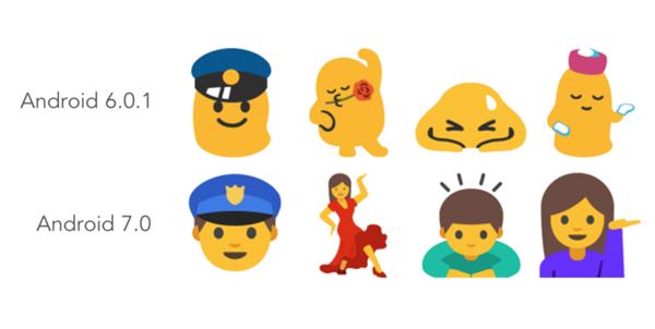 emoji android 7 nougat
