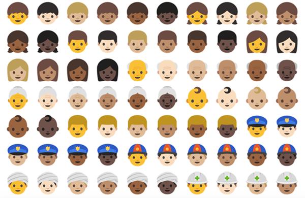emoji humain android 7 nougat