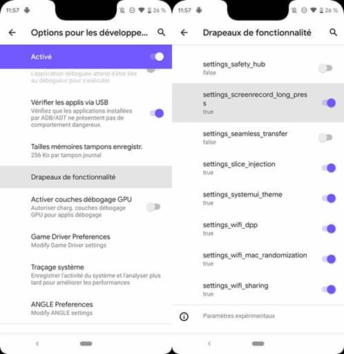 enregistrer son écran en vidéo sur Android 10 Q Beta