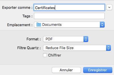 Enregistrer le fichier PDF