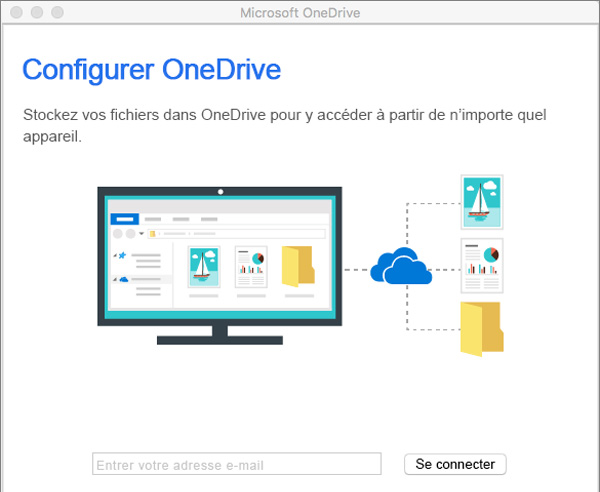 Configurer Microsoft OneDrive pour Mac