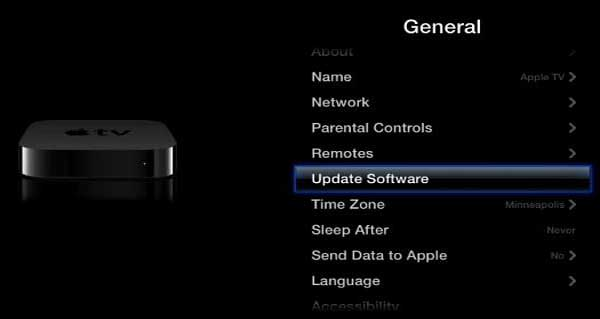 Sélectionnez « Mise à jour logicielle »