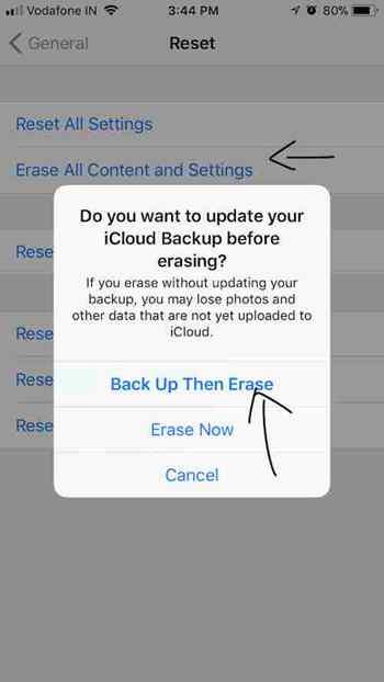 Réinitialisez votre iPhone