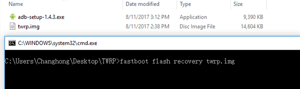 fastboot flasher twrp