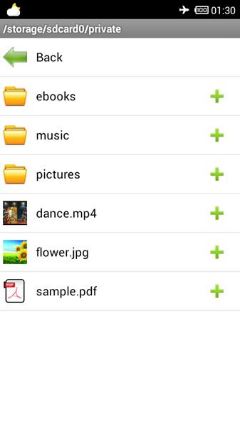 list de fichiers