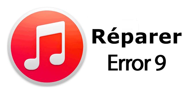 reparer erreur 9