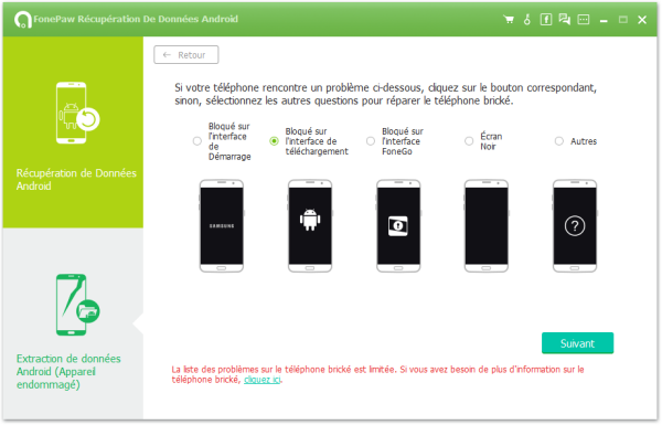 fixer smartphone android bloque