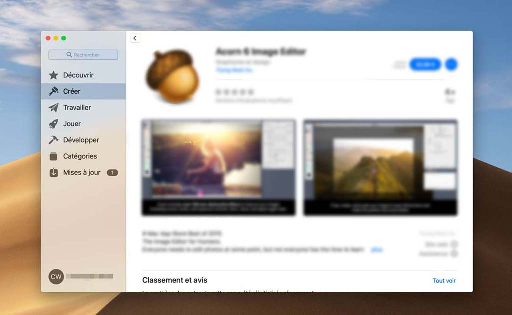Gérer l'App Store sur Mac
