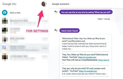 google allo pour web