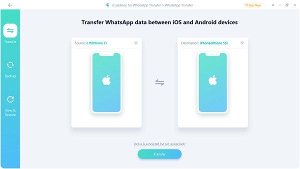 icarefone Whatsapp transfer