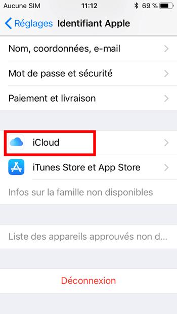 iCloud iPhone/iPad