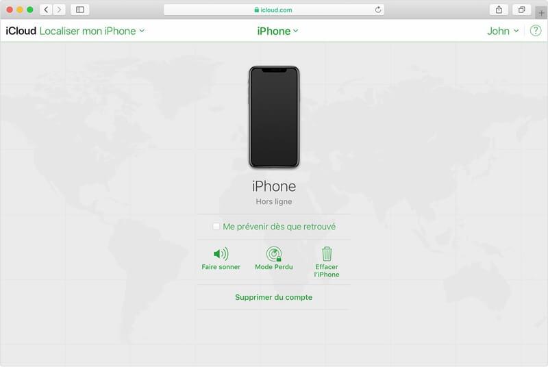 Débloquer un iPhone avec le compte iCloud