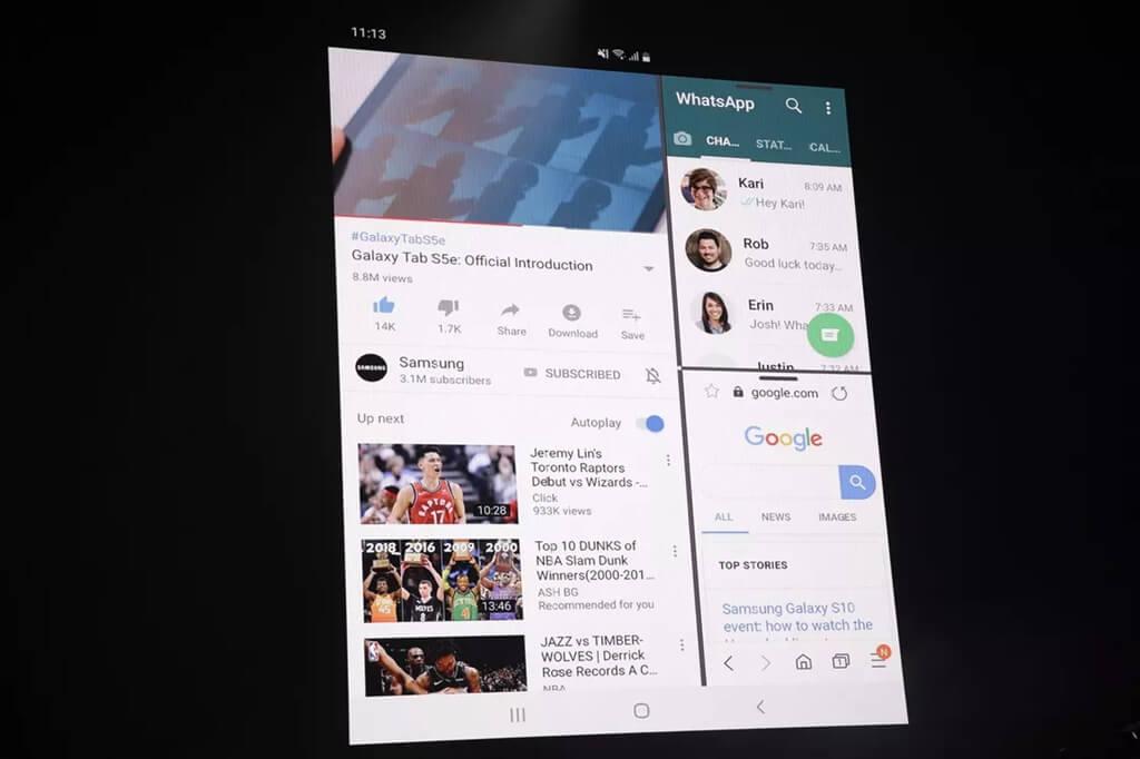 Le téléphone pliable Samsung Galaxy Fold