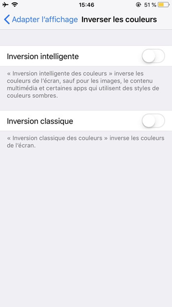 « Inversion intelligent » ou « Inversion classique »