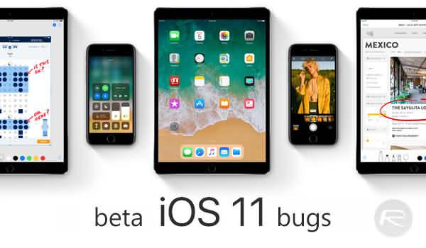ios 11 beta bugs