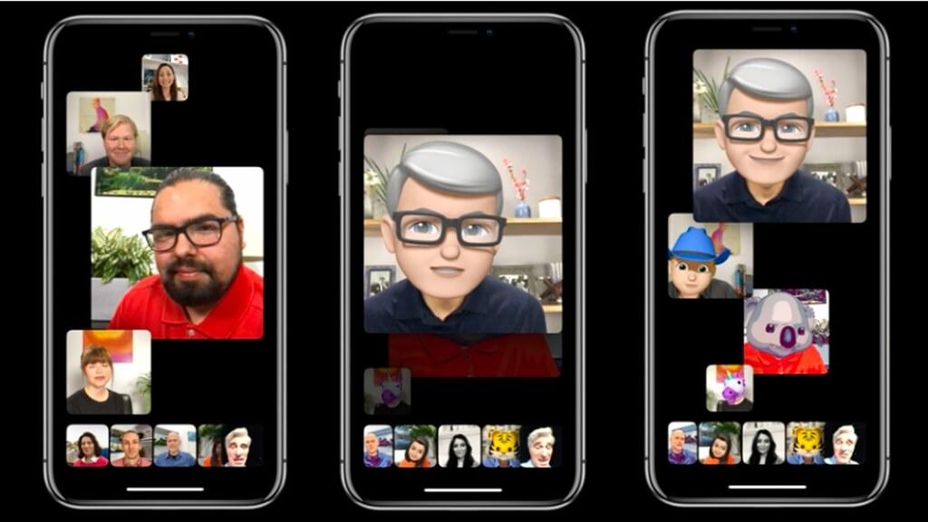 ajouter des Animojis et des autocollants à des appels de Groupe FaceTime