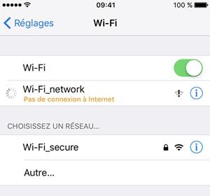 Connexion de Wi-Fi sur ios
