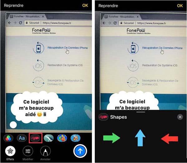 Différents styles de texte