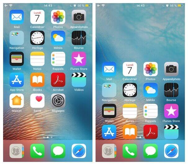 une double-tape sur iPhone